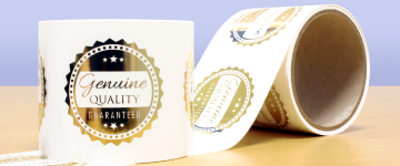 Metallic Foil Labels | www.stickersinternational.co.uk